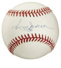 Autographs:Baseballs, Reggie Jackson Single Signed Baseball. Mr. October's clean blue inksignature occupies the sweet spot of the provided OAL (...