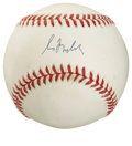Autographs:Baseballs, Greg Maddux Single Signed Baseball. One of the most prolificcontrol pitchers in the era dominated by the home run hitter, ...
