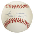 Autographs:Baseballs, Willie Mays Single Signed Baseball. The man who many from aparticular generation would say is their favorite player has in...