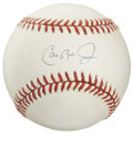 Autographs:Baseballs, Cal Ripken, Jr. Single Signed Baseball. Recent Hall of Famer andshortstop extraordinaire Cal Ripken, Jr. makes the clean OA...