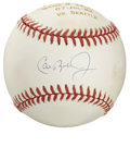Autographs:Baseballs, Cal Ripken, Jr. Singe Signed Baseball. From a series of baseballsthat were created to celebrate the great consecutive game...