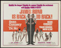"Movie Posters:James Bond, Dr. No/From Russia with Love Combo (United Artists, R-1965). Half Sheet (22"" X 28""). James Bond...."