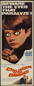 "Movie Posters:Science Fiction, Children of the Damned (MGM, 1964). Insert (14"" X 36""). ScienceFiction...."