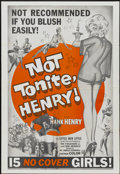 """Movie Posters:Sexploitation, Not Tonite, Henry (Foremost Films, 1961). One Sheet (27"""" X 41"""").Also known as Not Tonight, Henry. Sexploitation...."""