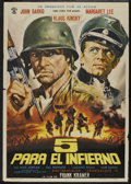 """Movie Posters:War, 5 Into Hell (Rosa Films, 1969). Spanish One Sheet (27.5"""" X 39.5"""").War...."""