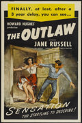 "Movie Posters:Western, The Outlaw (United Artists, R-1949). One Sheet (27"" X 41"").Western...."