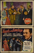 "Movie Posters:War, Hearts in Bondage (Republic, 1936). Title lobby Card and Lobby Card(11"" X 14""). War.... (Total: 2 Items)"