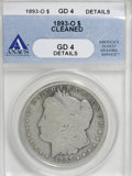 Morgan Dollars: , 1893-O $1 --Cleaned--ANACS .Good 4 Details. NGC Census: (13/1583). PCGS Population (13/2163). Mintage: 300,000. Numismedia W...