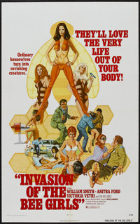 """Invasion of the Bee Girls (Centaur, 1973). One Sheet (27"""" X 41""""). Science Fiction"""