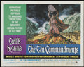 "Movie Posters:Historical Drama, The Ten Commandments (Paramount, R-1966). Half Sheet (22"" X 28"").Historical Drama...."