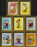 "Movie Posters:Animated, Snow White and the Seven Dwarfs (Buena Vista, R-1970s). Special""Picture Frame"" Lobby Card Set of 8 (11"" X 14""). Animate... (Total:8 Items)"