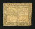Colonial Notes:Maryland, Maryland December 7, 1775 $2 Very Good-Fine....