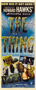 "Movie Posters:Science Fiction, The Thing from Another World (RKO, 1951). Insert (14"" X 36"")...."