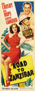 "Movie Posters:Comedy, Road to Zanzibar (Paramount, 1941). Insert (14"" X 36"")...."