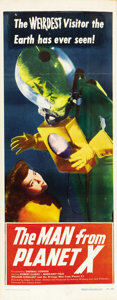 "Movie Posters:Science Fiction, The Man from Planet X (United Artists, 1951). Insert (14"" X36"")...."