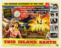 "Movie Posters:Science Fiction, This Island Earth (Universal International, 1955). Half Sheet (22""X 28"") Style A...."