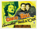 "Movie Posters:Comedy, Annabel Takes a Tour (RKO, 1938). Half Sheet (22"" X 28"") StyleB...."