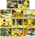 "Movie Posters:Animated, Pinocchio (RKO, 1940). Set of Color Stills (11) (8"" X 10"")....(Total: 11 Items)"
