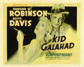 "Movie Posters:Crime, Kid Galahad (Warner Brothers, 1937). Half Sheet (22"" X 28"") StyleB...."