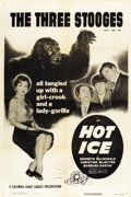 "Movie Posters:Short Subject, Hot Ice (Columbia, 1955). One Sheet (27"" X 41"")...."