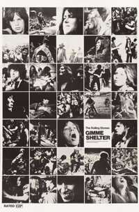 "Gimme Shelter (20th Century Fox, 1970). One Sheet (29"" X 44"") Photo Montage Style"