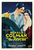 "Movie Posters:Adventure, The Rescue (United Artists, 1929). One Sheet (27"" X 41"")...."