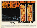 "Movie Posters:Crime, Ocean's 11 (Warner Brothers, 1960). Half Sheet (22"" X 28"")...."