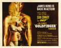 "Movie Posters:James Bond, Goldfinger (United Artists, 1964). Half Sheet (22"" X 28"")...."