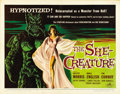 "Movie Posters:Science Fiction, The She-Creature (American International, 1956). Half Sheet (22"" X28"")...."