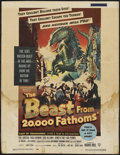"Movie Posters:Science Fiction, The Beast From 20,000 Fathoms (Warner Brothers, 1953). Window Card(14"" X 18""). Science Fiction...."