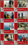 """Movie Posters:James Bond, For Your Eyes Only (United Artists, 1981). Lobby Card Set of 8 (11"""" X 14""""). James Bond...."""