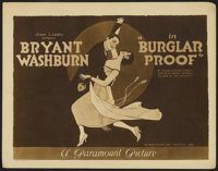 "Burglar Proof (Paramount, 1920). Title Lobby Card (11"" X 14""). Drama"