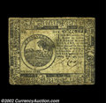 Colonial Notes:Continental Congress Issues, Continental Currency February 26, 1777 $6 Very Fine. A ...