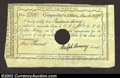 Colonial Notes:Connecticut, 1790 Connecticut Interest Payment Certificate,