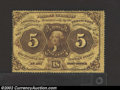 Fractional Currency:First Issue, First Issue 5c, Fr-1228, Fine. Perforated edges with monogram ...