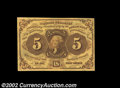 Fractional Currency:First Issue, Fr. 1230 5¢ First Issue Very Choice New. A near-Gem ...