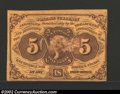 Fractional Currency:First Issue, First Issue 5c, Fr-1230, Choice AU. Straight edges with ...