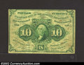 Fractional Currency:First Issue, First Issue 10c, Fr-1242, Fine-VF. Straight edge with ...