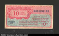 Military Payment Certificates: , Military Payment Certificate Series 471 10¢, VF....