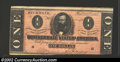 Confederate Notes:1864 Issues, 1864 $1 Clement C. Clay, T-71, XF....