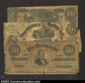 Confederate Notes:Group Lots, A miscellaneous group of CSA notes, including a counterfeit T-...