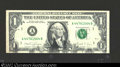 Error Notes:Ink Smears, 1988A $1 Federal Reserve Note, Fr-1914-A, XF. The obverse ...