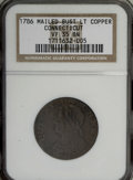 Colonials, 1786 COPPER Connecticut Copper, Mailed Bust Left VF35 NGC....