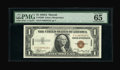 Small Size:World War II Emergency Notes, Fr. 2300 $1 1935A Hawaii Silver Certificate. PMG Gem Uncirculated 65 EPQ.. With a print run of only 12,000 notes, fewer F-C ...