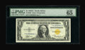 Small Size:World War II Emergency Notes, Fr. 2306 $1 1935A North Africa Silver Certificate. PMG Gem Uncirculated 65 EPQ.. Similar to the Hawaiian Ace, the North Afri...
