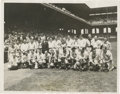 Baseball Collectibles:Photos, 1933 All-Star Game American League Team Wire Photograph. Not sincethe 1911 benefit game for the family of fallen Hall of F...