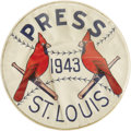 Baseball Collectibles:Others, 1943 World Series Press Pin (St. Louis Cardinals). Like its olderbrother from the 1942 Series, this tremendously scarce re...