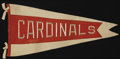 Baseball Collectibles:Others, 1926 St. Louis Cardinals Pennant. The absolutely astoundingcondition in which we find this World Championship season penna...