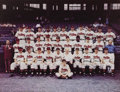 Baseball Collectibles:Photos, 1948 Cleveland Indians Oversized Color Photograph. Spectacular teamshot is rendered in bold and vibrant color, affording a...