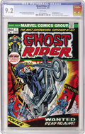 Bronze Age (1970-1979):Horror, Ghost Rider #1 (Marvel, 1973) CGC NM- 9.2 White pages....